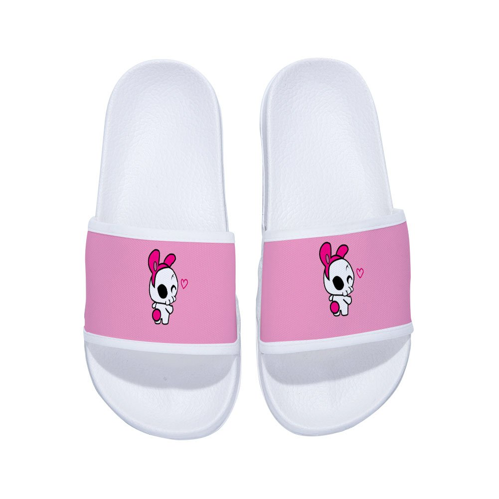 Eric Carl Girls Slide Sandals with Butterfly Comfortable Soft Bathroom Sandal Shower Slippers