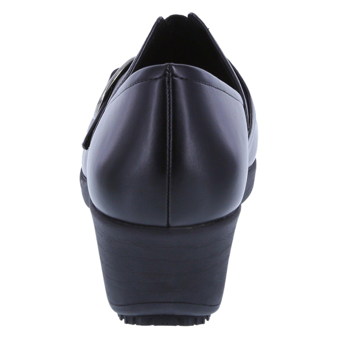 safeTstep Slip Resistant Women's Black Women's Buckle Gretchen Clog 8.5 Regular by safeTstep (Image #3)