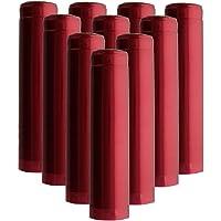 HomebrewSupply EL-5188-4KDR Shrink Capsules 100 Oriental Red Pvc Heat Shrink Caps For Wine Bottles Matte Metallic Finish