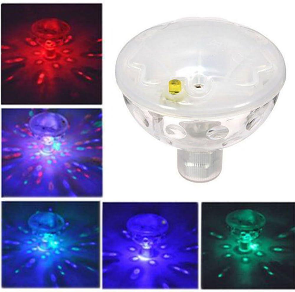 1 UNIDS Luz Flotante bajo el Agua Automática 5 Colores Que cambian LED Disco Luz Show Piscina Piscina Jacuzzi SPA Lámpara