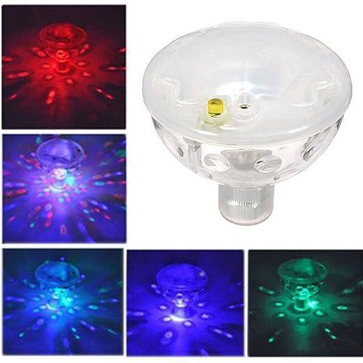 1 UNIDS Luz Flotante bajo el Agua Automática 5 Colores Que cambian ...