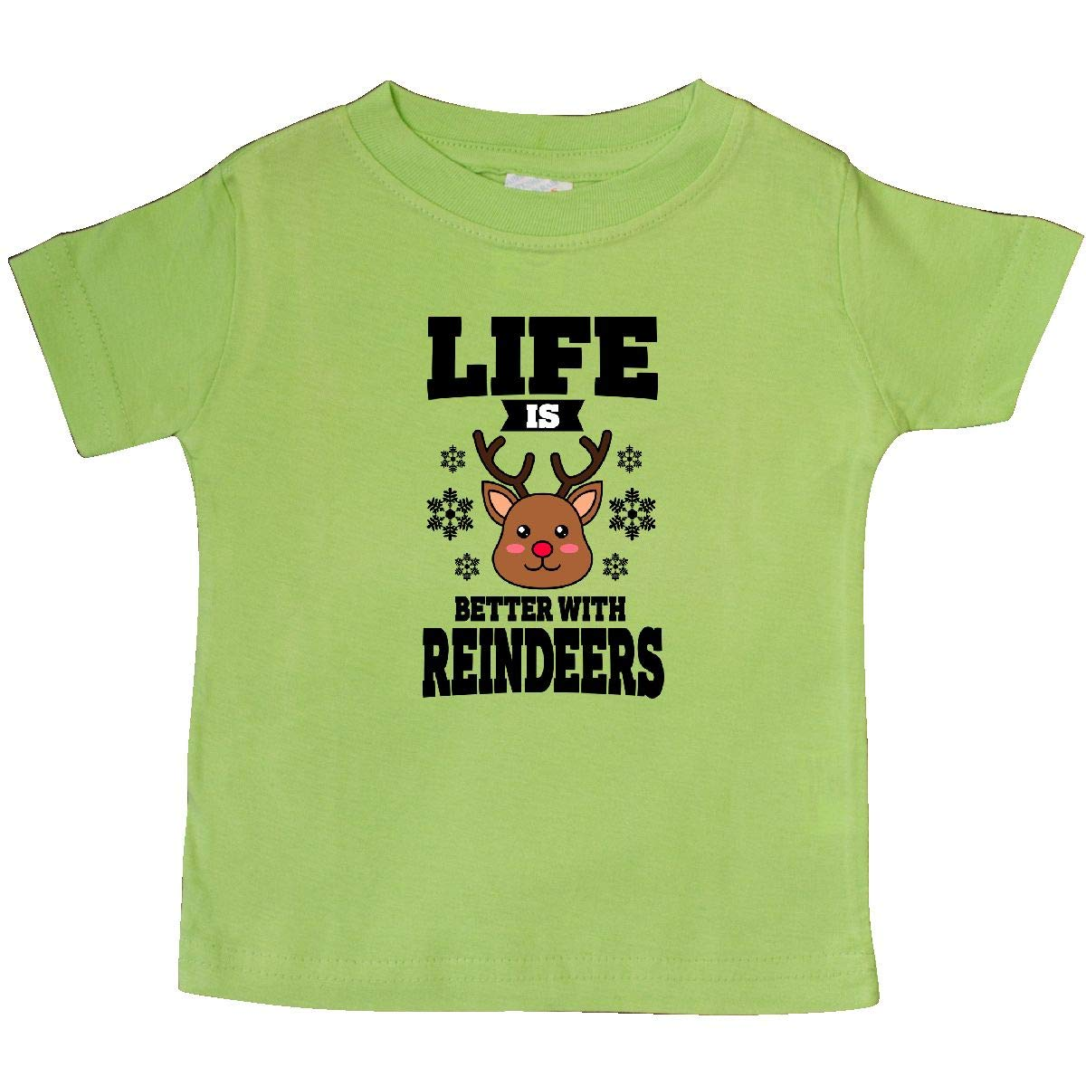 inktastic Life is Better with Reindeers Baby T-Shirt