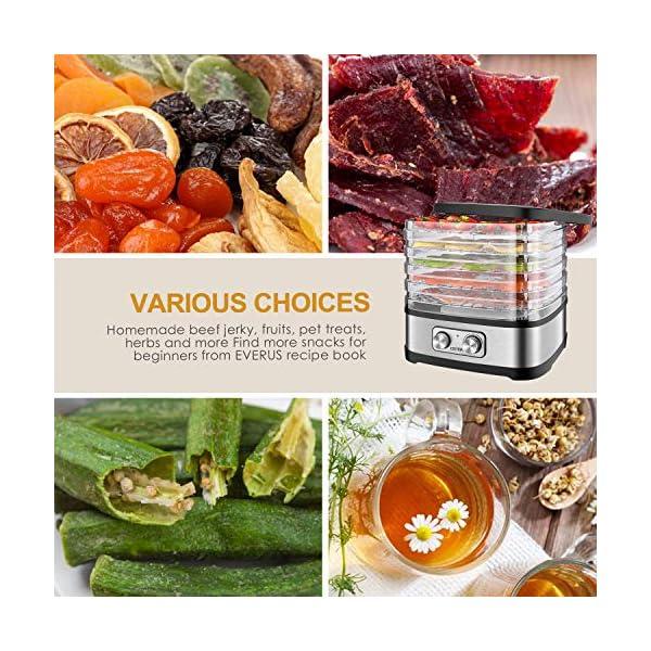 Essiccatore frutta e verdura OSTBA,5 vassoi,Disidratatore per Alimenti,Essiccatore Alimentare,Temperatura regolabile(35… 5