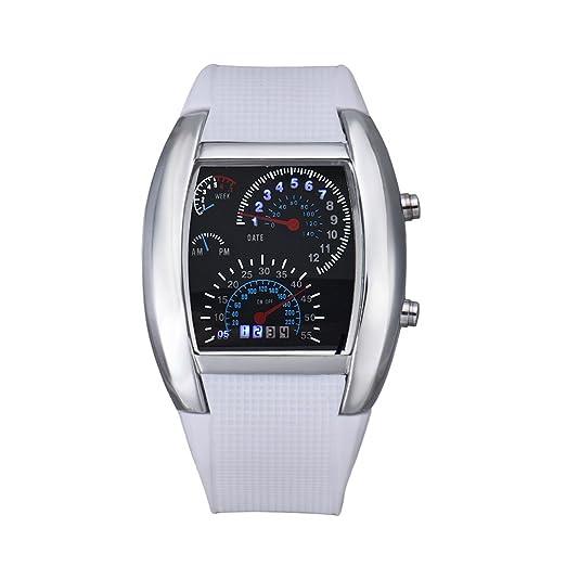 Kinlene Moda Aviación Turbo Dial flash LED Watch Regalo para regalo Mens Señora Deporte De Coche