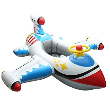 Amazon.com: willcome hinchable avión flotador asiento con ...