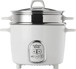 Unknown1 14 Cup Digital Rice Cooker White Stainless Steel Ready Indicator Light
