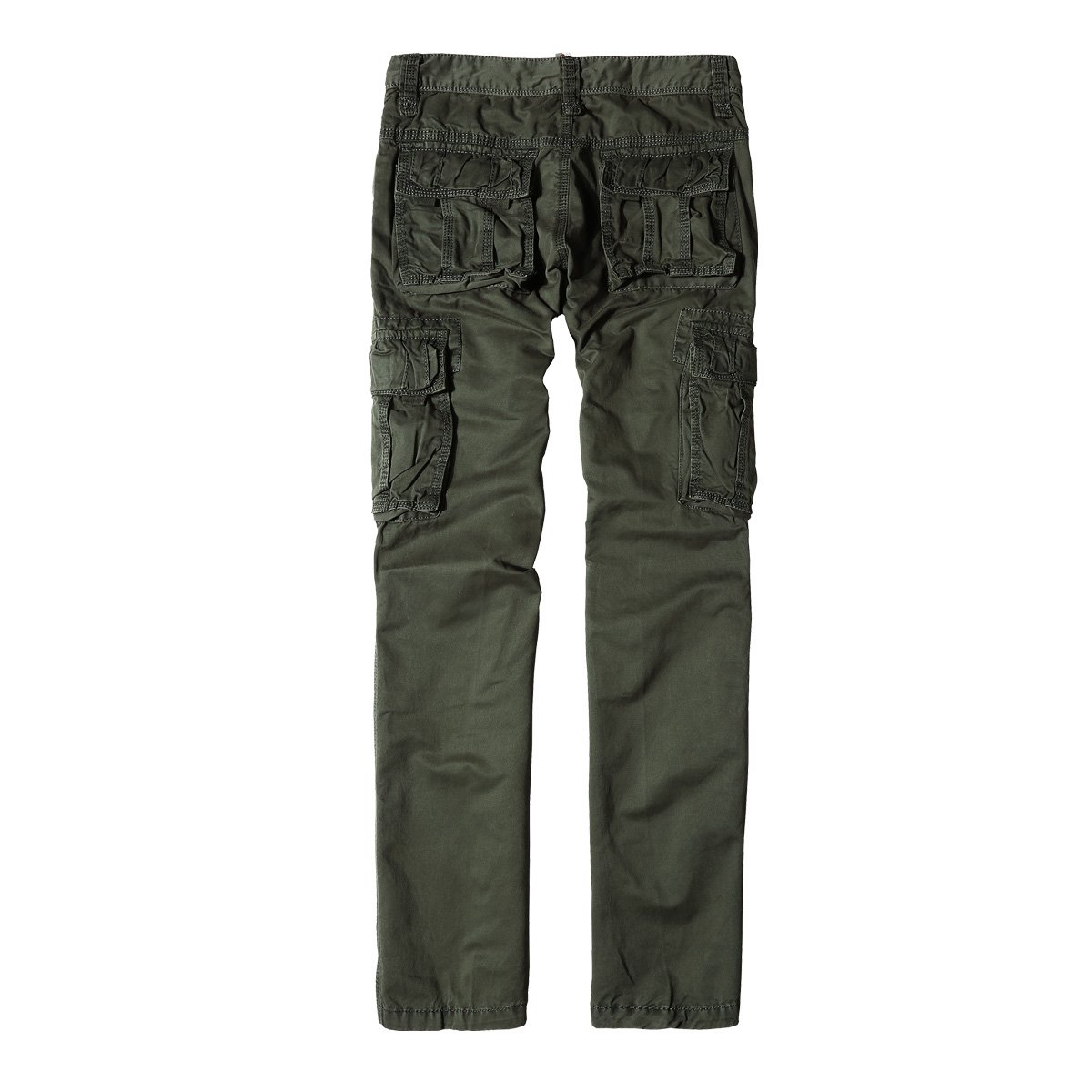6d9bb482942 TACVASEN Men s Casual Cargo Trousers Relaxed Straight Cotton Work Pants  Multi Pockets  Amazon.com.au  Fashion