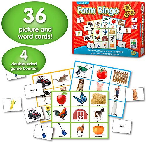 - The Learning Journey: Match It! Bingo - Farm - Reading Game for Preschool and Kindergarten 36 Picture Word Cards