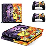Skinia PS4 Console Designer Skin for Sony PlayStation 4 System plus Two(2) Decals for: PS4 Dualshock Controller - NARUTO Uzumaki Naruto Uchiha Sasuke Collection