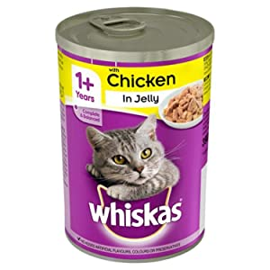 WHISKAS 1+ Cat Tin with Chicken in Jelly 390g, Carefully prepared with delicious ingredients