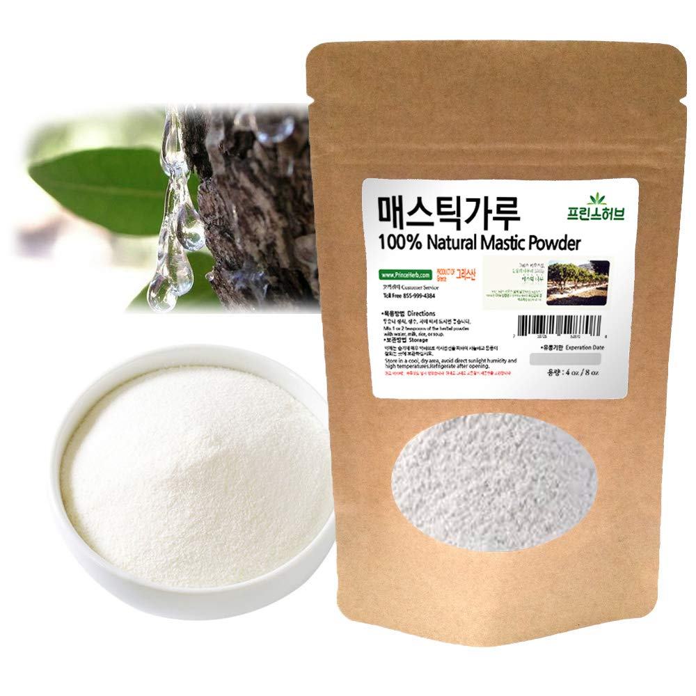 [Medicinal Herbal Powder] 100% Natural Mastic Powder, 매스틱 가루 (8 oz)
