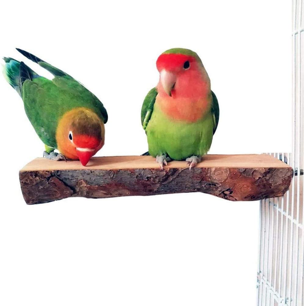 Sykasm Wooden Parrot Perch Stand Bird Entertainment Platform Bird Cage Accessories