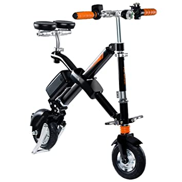 Airwheel E6 Bicicleta Eléctrica Plegable con Batería Desmontable (Negro)
