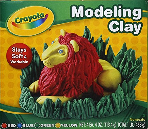 Crayola 57-0300 Assorted Colors Modeling Clay 4 Count (Pack of