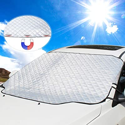 Car Windshield Sun Cover, UBEGOOD Sunshade for Windshield - Blocks UV Rays, Keep Your Car Cool and Damage Free, Waterproof Sun Visor Protector, Fits All Season and Most Cars: Automotive
