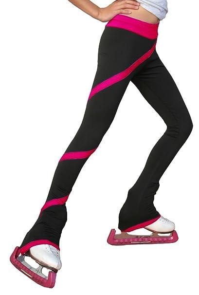 2569af156f07f Amazon.com: Chloe Noel Figure Skating Spiral Pants P06: Clothing
