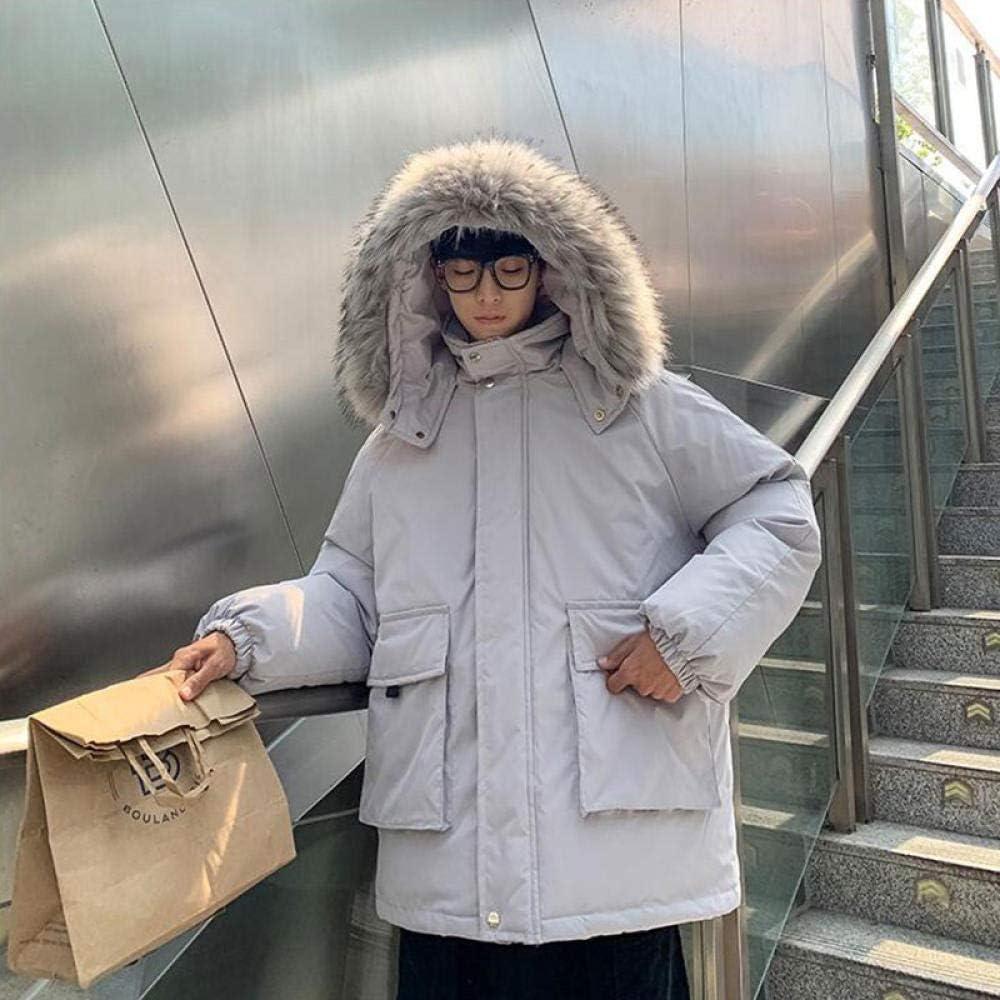 À Manches Longuesmanteau De Fourrure d'hiver Manteau D'Outil De Coton Vêtements Tendance Veste en Coton Épais Bleu