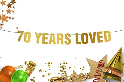 Amazon 70 Years Loved Banner
