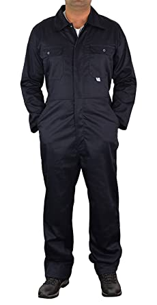 46b6315745cf Mens Boiler Suit Overall Coverall Long Sleeves Workwear Safety Protection  Clothing (36