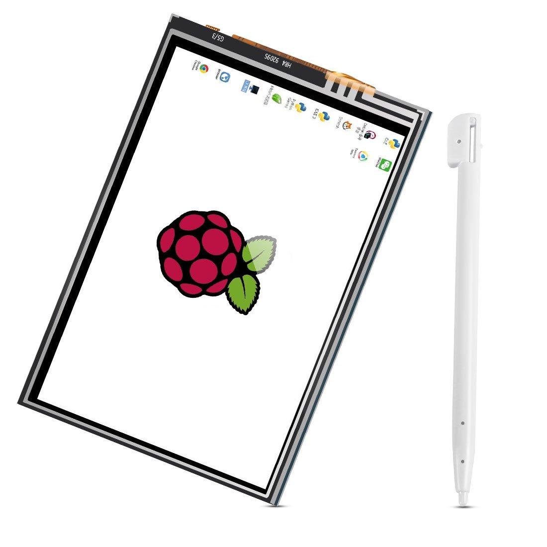 Dorhea Raspberry Pi 3 Model B TFT LCD Display Kit,3.5 inch 480x320 TFT Touch Screen Moudle with Protective Case Cooling Fan and Heatsinks for Raspberry Pi 3 B+,Pi 3 B, Pi 2, Pi Zero, Pi B+ by Dorhea (Image #2)