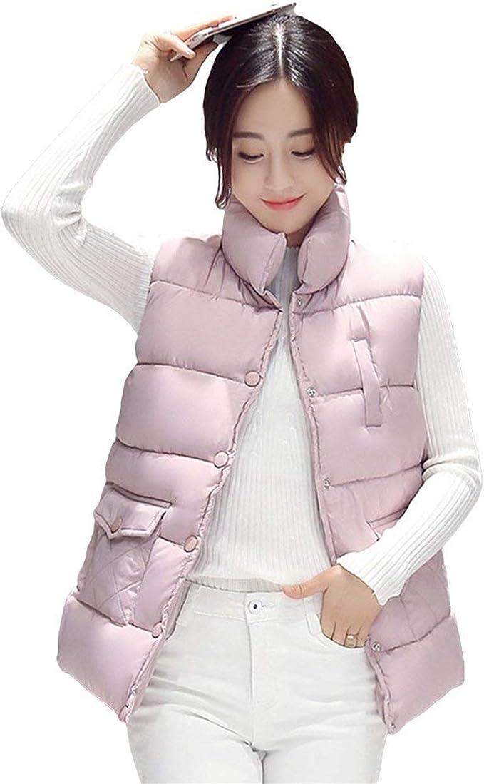 Chaleco Acolchado Mujer Tallas Grandes Otono Invierno Moda Sin Mangas Caliente Ropa Abrigos Elegante Casual Vest Color Solido Comodo Nina Chaqueta Acolchada Chalecos