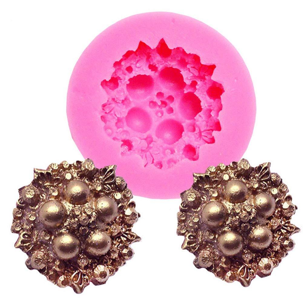 Slendima 3D Silicone Flower Pattern Cake Decorating Molds DIY Fondant Chocolate Mould Decorating Tool for Baking