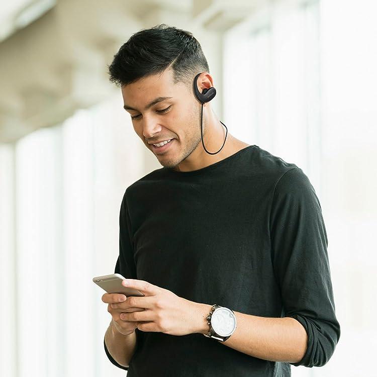 dodocool インイヤーヘッドフォン 無線 ステレオスポーツIPX5 防沫 インラインリモートHDマイク CVC 6.0 騒音抑制 多地点接続 17時間持続 スポーツコンパニオンiPhone/iPad/iPod/Samsung S8/ ほとんどのスマートフォンタブレットに適用 ブラック
