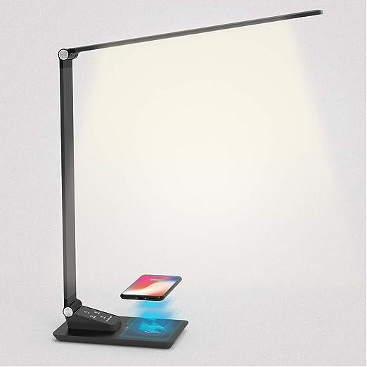 Lampada da tavolo da tavolo a LED Ricarica wireless per