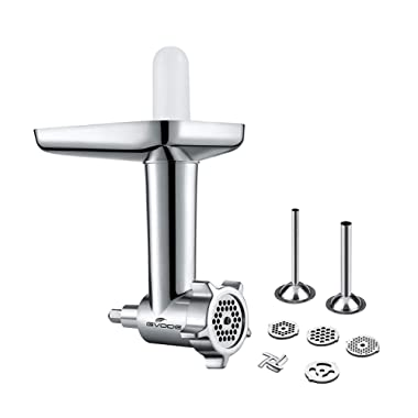 Gvode Food Grinder Attachment for KitchenAid Stand Mixers Including Sausage Stuffer Accessory