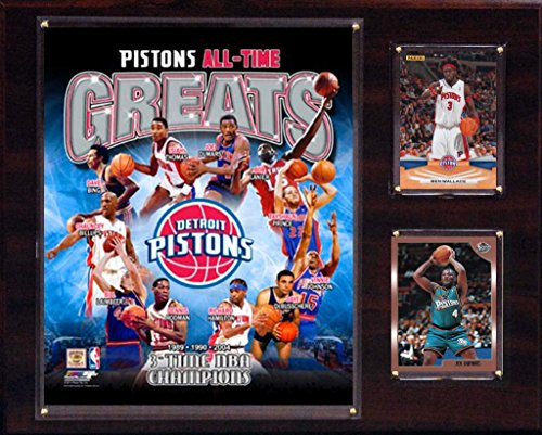 fan products of NBA Detroit Pistons All-Time Great Photo Plaque, 12 x 15-Inch
