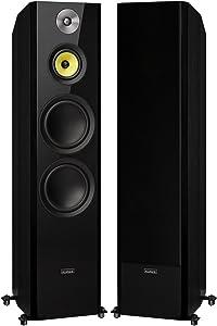 "Fluance Signature Series Hi-Fi Three-Way Floorstanding Tower Speakers with Dual 8"" Woofers (HFF)"