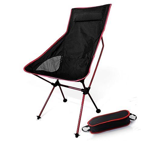 Apoyo de 330lbs Portable picnic al aire libre iwell ultraligero pesca camping senderismo viajar deportes con altura ajustable - Compact Silla plegable ...