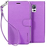 Galaxy S5 Case, BUDDIBOX [Wrist Strap] Premium PU Leather Wallet Case with [Kickstand] Card Holder and ID Slot for Samsung Galaxy S5, (Purple)