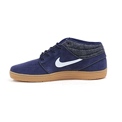 uk availability bc13c b5d02 Nike SB Lunar Stefan Janoski Mid Shield (Obsidian White-Gum Medium Brown)  Men s Skate Shoes  Amazon.ca  Shoes   Handbags