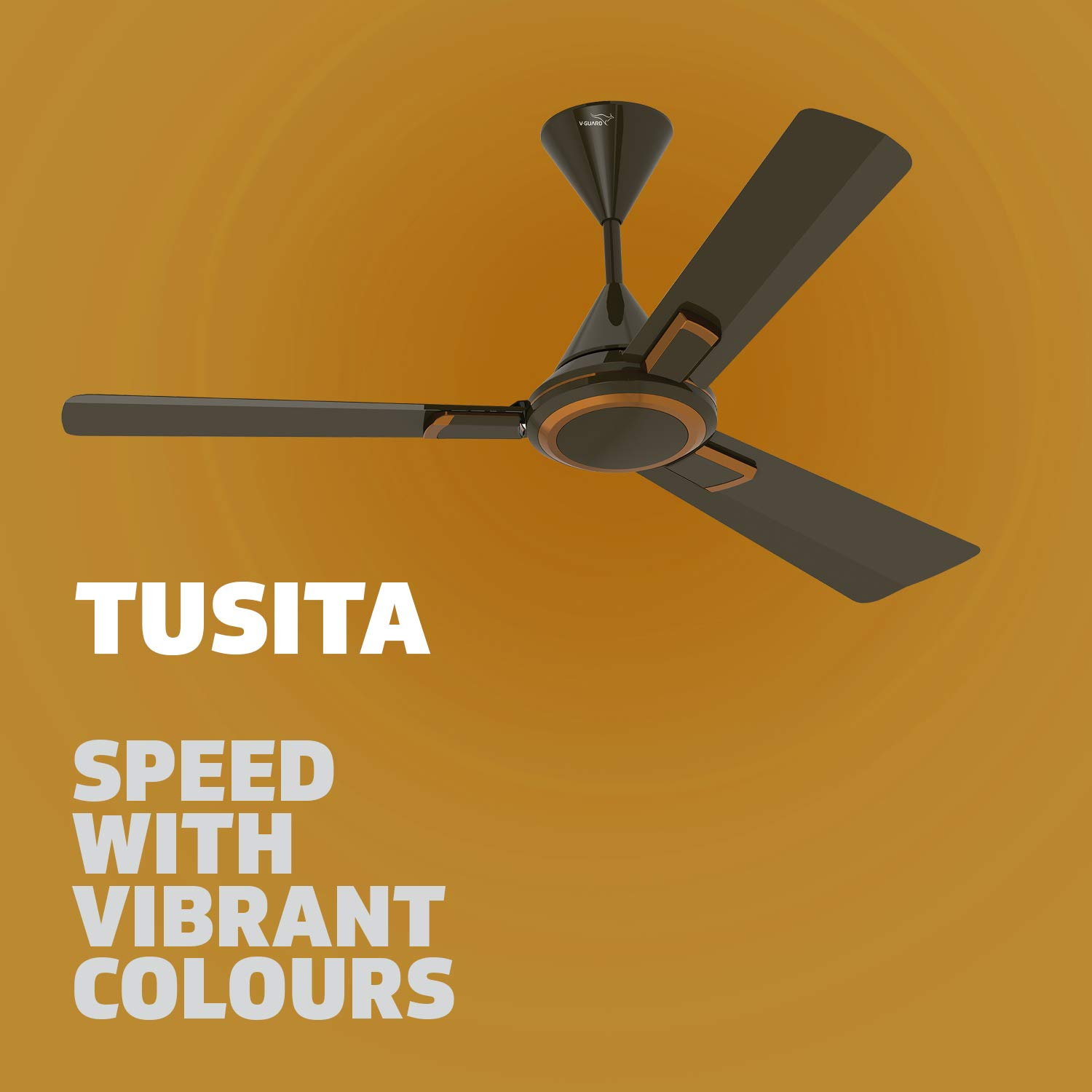 Buy V Guard Ceiling Fan Tusita 1200 Choco Bronze Online At Low Prices In India Amazon In