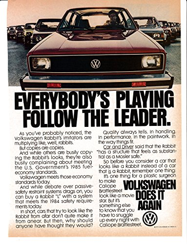 Hatchbacks Volkswagen Rabbit - 1979 VW Rabbit Volkswagen Hatchback Sports Car -Original Magazine Ad-Beetle Auto