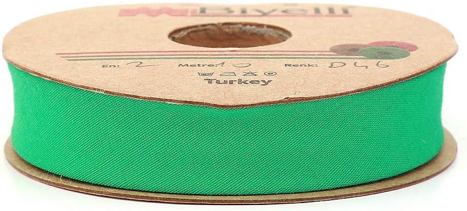 Single Fold 10meters-10.93yds Various Colors Grey 20mm-13//16inch DIY Garment Accessories Cotton Bias Binding Tape
