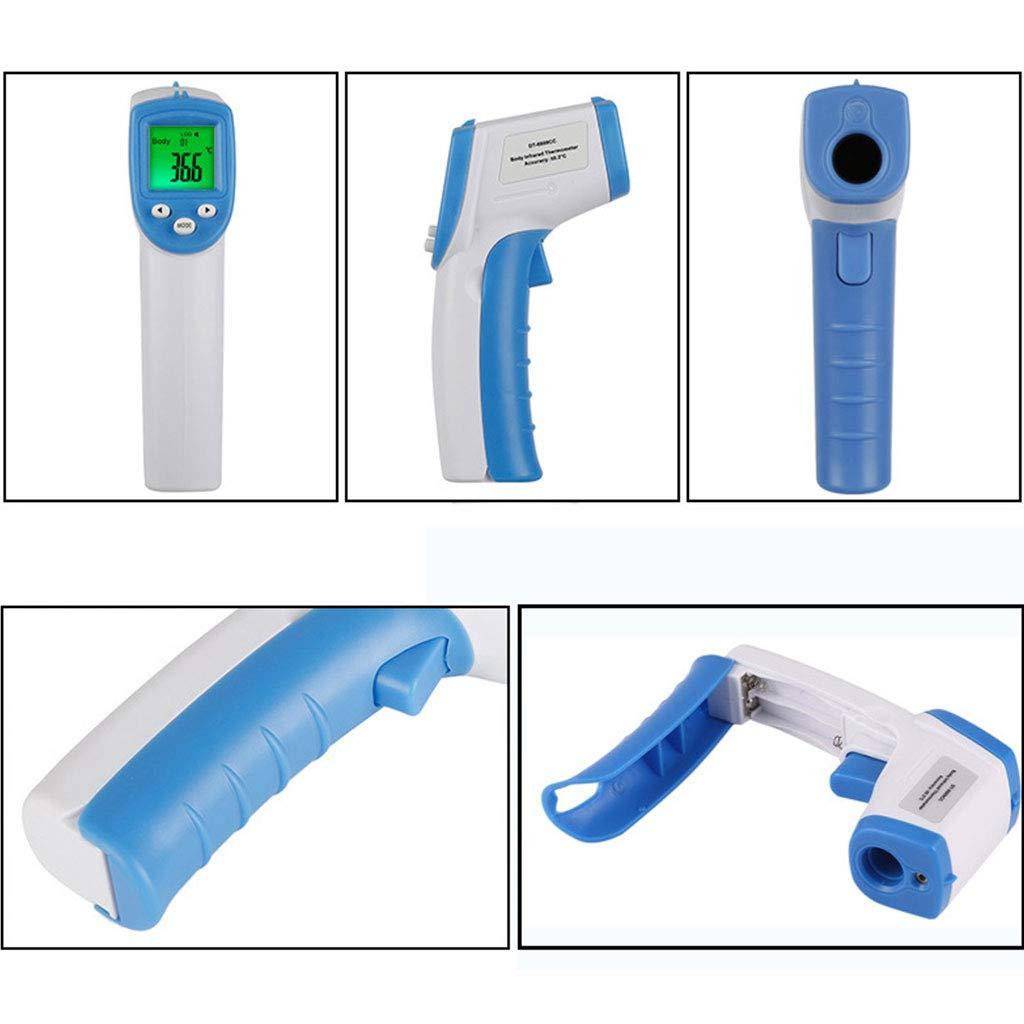 blu non a contatto con IR rosso Termometro a infrarossi per bambini temperatura nellaria 65292; LCD portatile da viaggio termometro elettronico a infrarossi allarme medico medico e medico