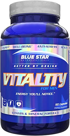 Best Multivitamin For Men >> Vitality Multivitamin For Men Best Daily Mens Multivitamin And Multi Mineral Support Supplement With Patented Sensoril Ashwagandha Extract For
