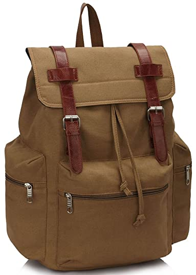 bca28509f4 Ladies Backpack Rucksack Bag Travel Canvas Laptop School Women Large Back  Pack