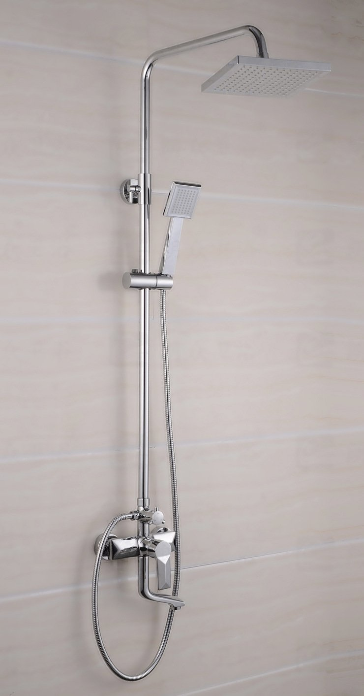 AGECC Best Choice Shower Bath Set Full Copper Shower Square Shower Set Double Shower Faucet Shower With Lift