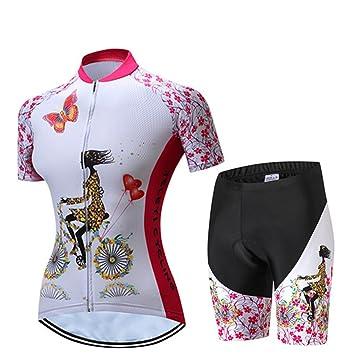 0994e4334d Ciclismo Jersey Mujeres bicicleta Maillots Sport MTB Carretera Montaña  Blusa Manga Corta bicicleta camisetas Top Outdoor