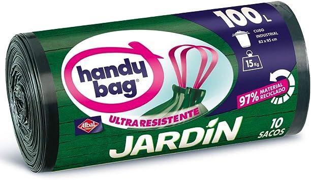 Handy Bag Bolsas de Basura 100L Jardín, 97% Reciclado, Extra Resistentes, 10 Sacos: Amazon.es: Salud y cuidado personal