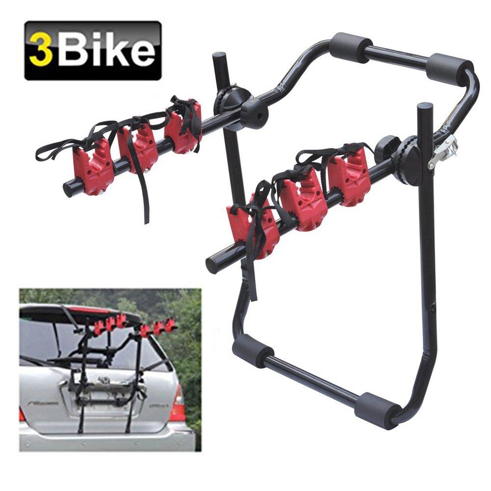 OBEST NIU Coche Bicicleta Portaequipajes para Bicicleta, 3 Bicicleta Coche Ciclo Portaequipajes para Bicicleta Ajuste Universal
