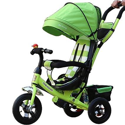 HYSH Triciclo para niños Coche Plegable para niños pequeños Bicicleta para bebés Bicicleta del niño de