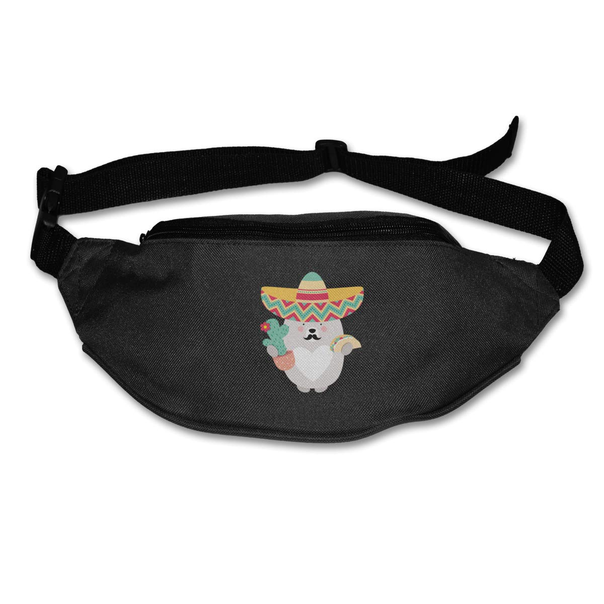 Fuuny Cactus Sport Waist Pack Fanny Pack Adjustable For Travel