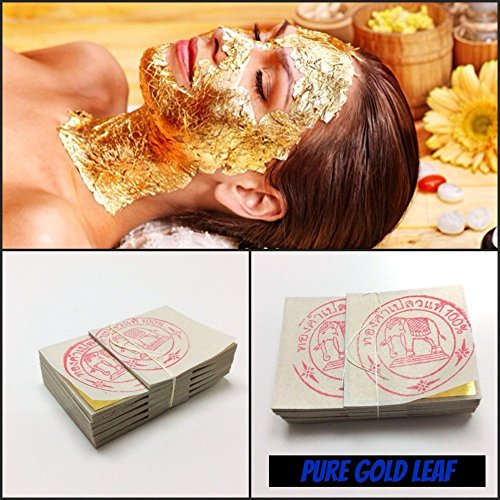 20PCS Thailand Gold Foil Mask Sheet Spa 24K Gold Face Mask Beauty Salon Equipment Anti-Wrinkle Lift Face Beauty Care 3cm. x 3cm. (1.18 inches x 1.18 inches)X 20pcs