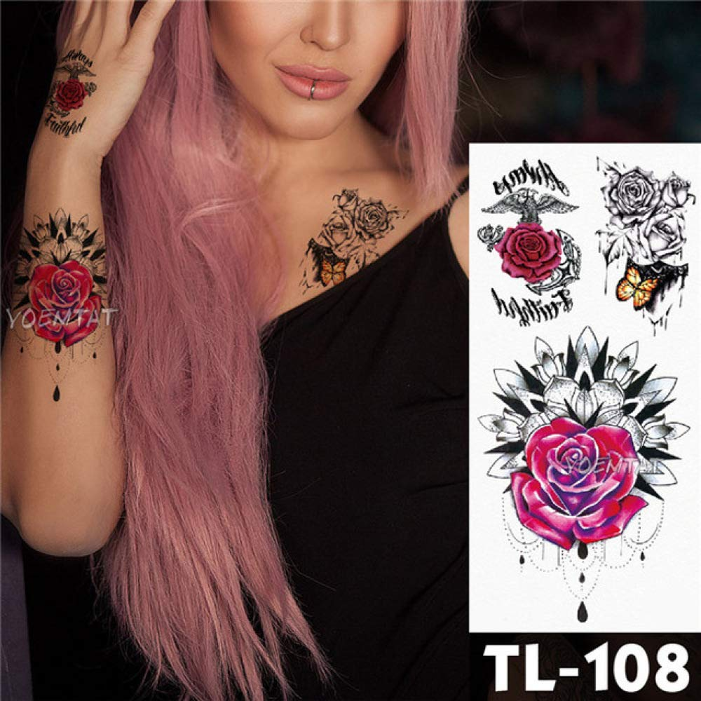 tzxdbh 5 Piezas de Tatuaje de Leopardo Etiqueta engomada del Arte ...