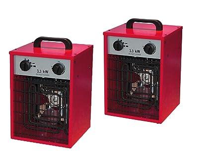 Juego de 2 diseño Radiador Eléctrico calefactor Estable con 2 niveles de calor y práctica función