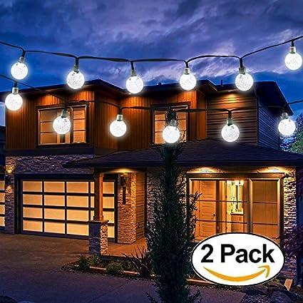 amazon com vivii solar string light 20 ft 30 led crystal ballvivii solar string light 20 ft 30 led crystal ball waterproof string lights solar powered fairy